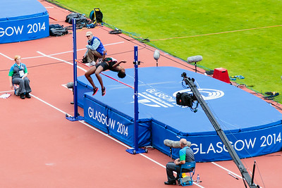 The grace of the high jumper